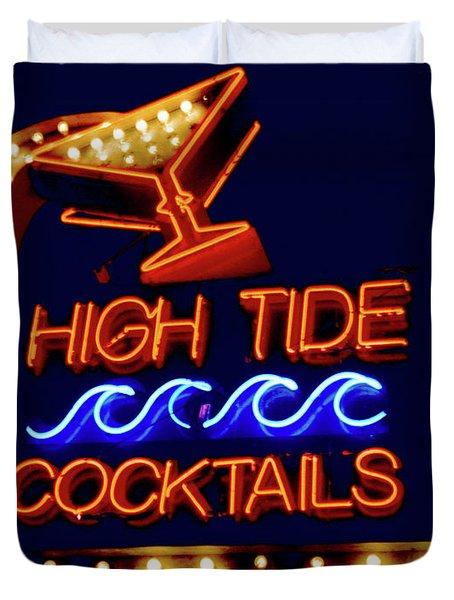 High Tide Cocktails Duvet Cover