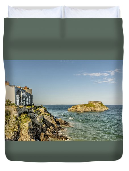 High Tide - Tenby Duvet Cover