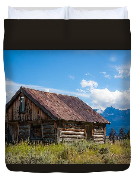 High Valley Cabin Duvet Cover