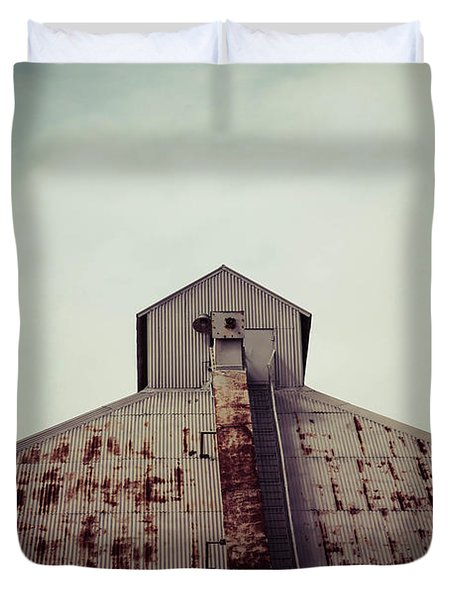Duvet Cover featuring the photograph High View by Trish Mistric