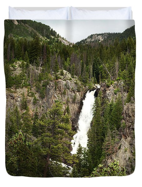 Duvet Cover featuring the photograph High Water At Fish Creek Falls by Daniel Hebard