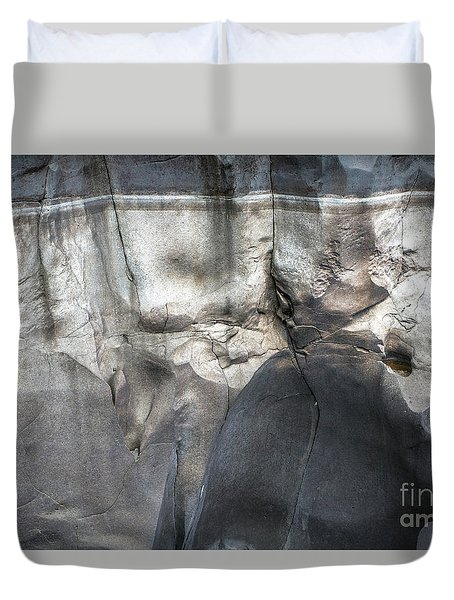 High Water Mark Rock Art By Kaylyn Franks Duvet Cover