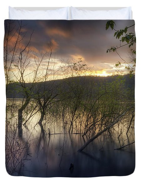 High Water Sunset Duvet Cover