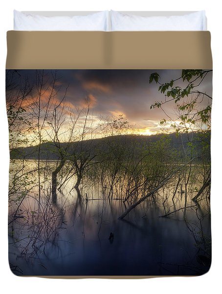 High Water Sunset Duvet Cover