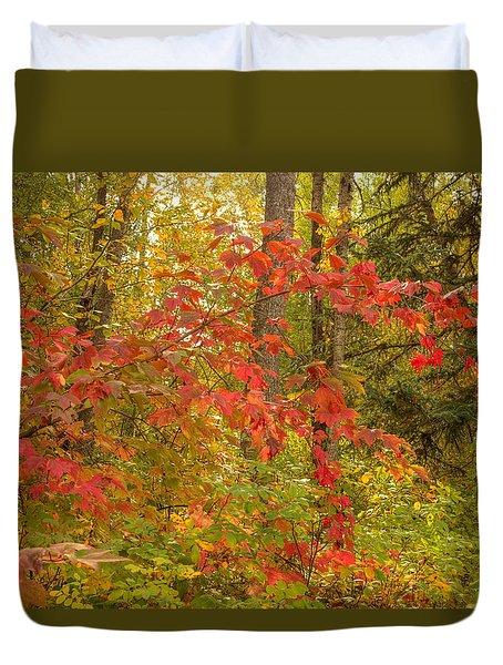 Duvet Cover featuring the photograph Highbush Cranberry by Jim Sauchyn