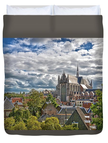 Highland Church Seen From Leiden Castle Duvet Cover