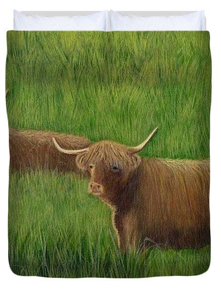 Highland Cows Duvet Cover