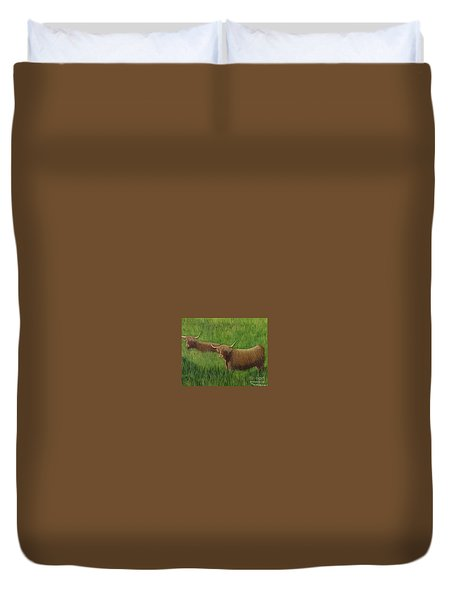Highland Cows Duvet Cover