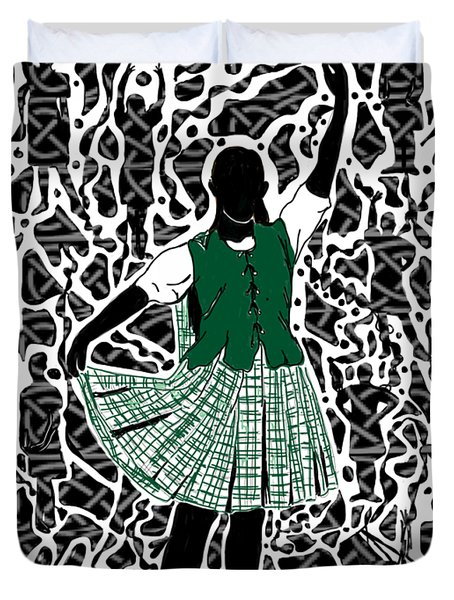 Highland Dancing Duvet Cover
