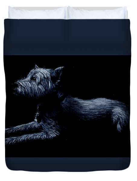 Highland Terrier Duvet Cover
