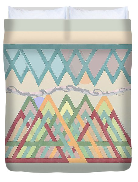 Duvet Cover featuring the digital art Highlands Anvil by Deborah Smith
