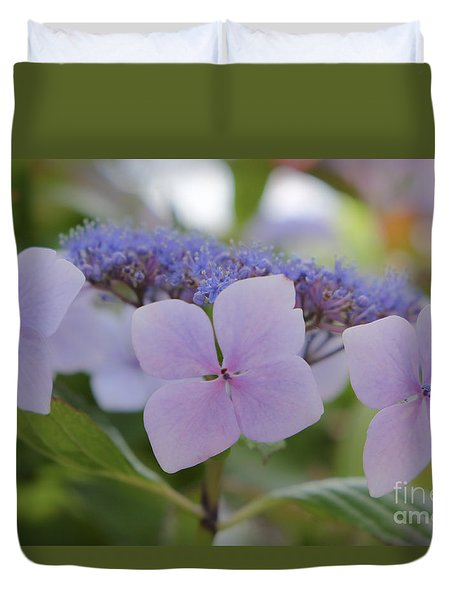 Highlands Hydrangea Duvet Cover by Amy Fearn