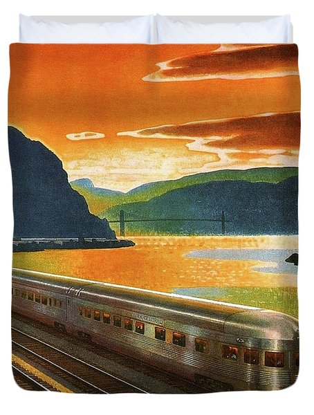 Highlands Of Hudson, Railway, Train Duvet Cover