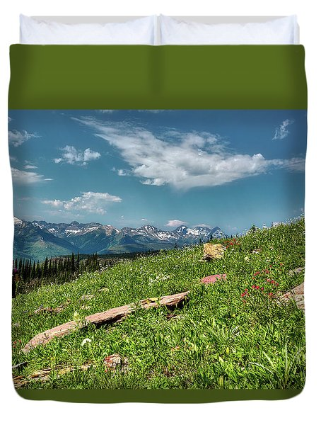 Highline Trail Adventure Duvet Cover