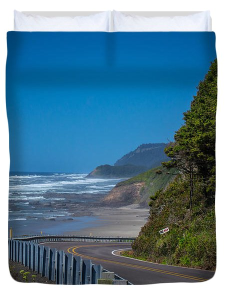 Highway 101 Oregon Coast Duvet Cover