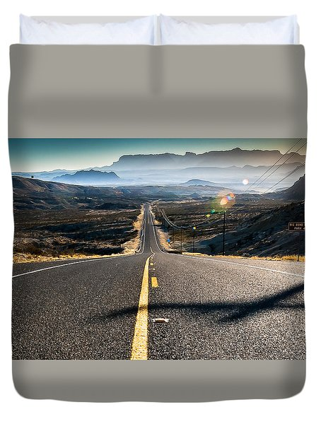 Duvet Cover featuring the photograph Highway 170 To Big Bend by Allen Biedrzycki