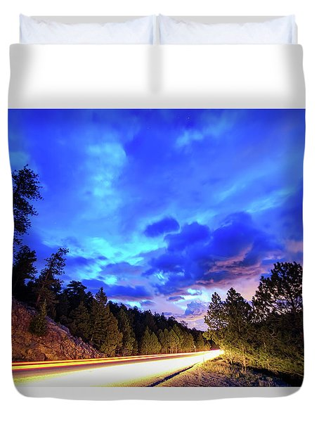 Highway 7 To Heaven Duvet Cover by James BO Insogna