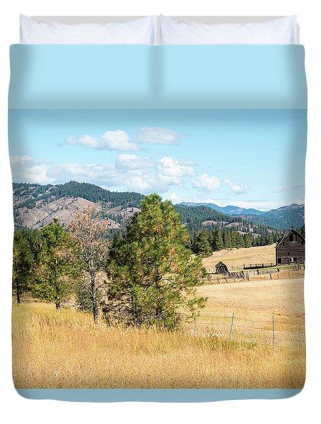 Highway 97 Ranch Memories Duvet Cover
