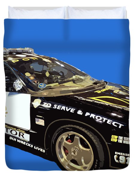 Highway Interceptor Art Duvet Cover