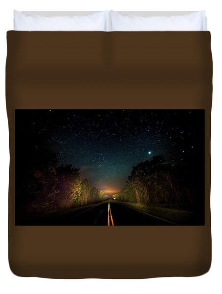 Highway To The Stars Duvet Cover by Mark Andrew Thomas