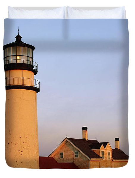 Duvet Cover featuring the photograph Higland Lighthouse Cape Cod by Roupen  Baker