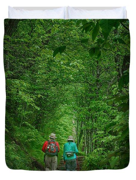 Hiking - Appalachian Trail Duvet Cover