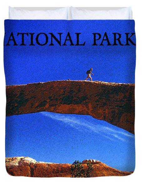 Hiking Arches Duvet Cover by David Lee Thompson