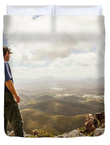 Hiking Australia Duvet Cover