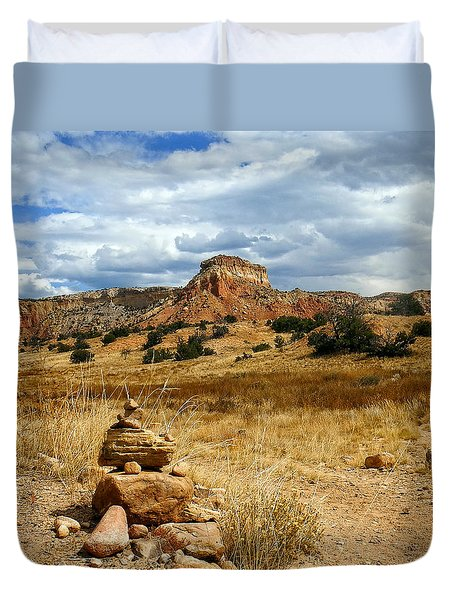 Duvet Cover featuring the photograph Hiking Ghost Ranch New Mexico by Kurt Van Wagner