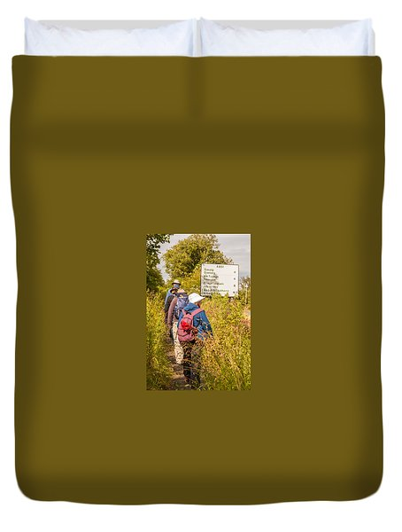 Hiking In The Highlands Duvet Cover