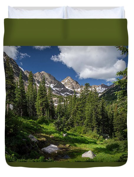 Hiking Into The Gore Range Mountains Duvet Cover