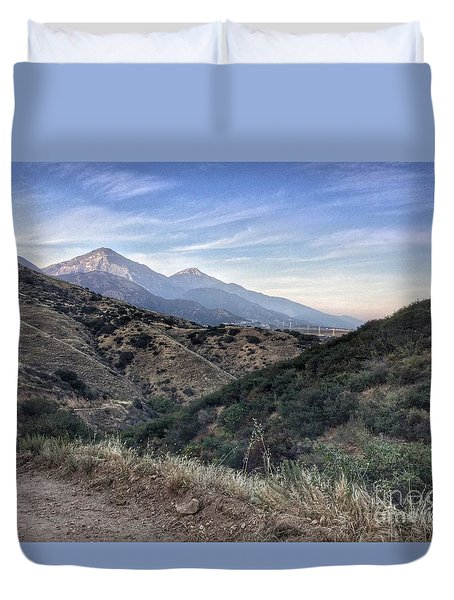 Hiking Johnson's Pasture Duvet Cover