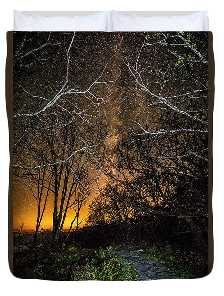 Hiking The Milky Way Duvet Cover