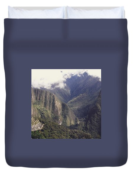 Journey To The Sun Gate Duvet Cover