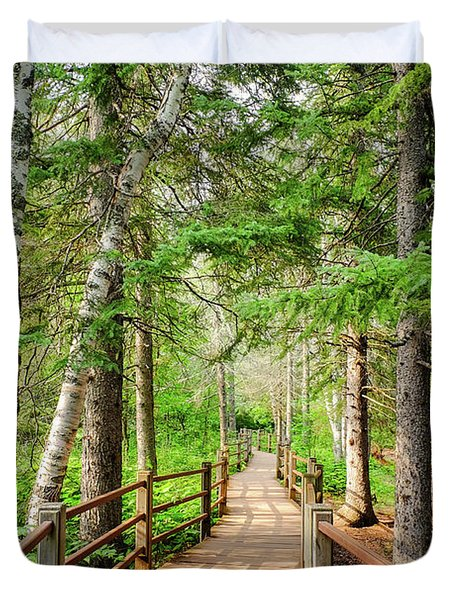 Hiking Trail Duvet Cover