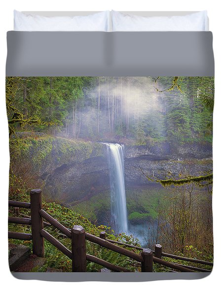 Hiking Trails At Silver Falls State Park Duvet Cover