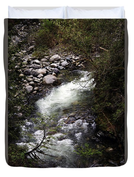 Hiking Wallace Falls#1 Duvet Cover