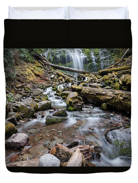 Hiking Zen Forests Duvet Cover