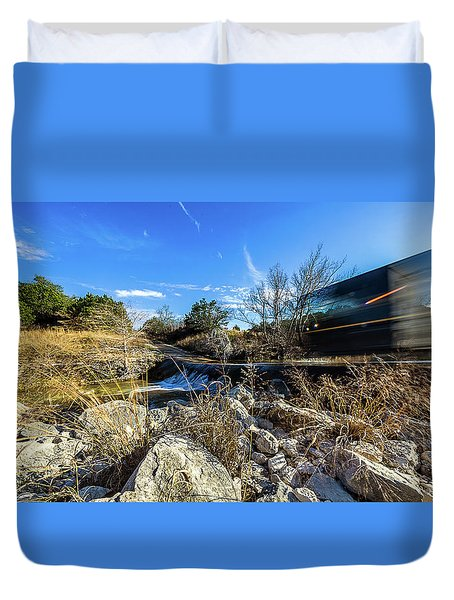 Hill Country Back Road Long Exposure #2 Duvet Cover