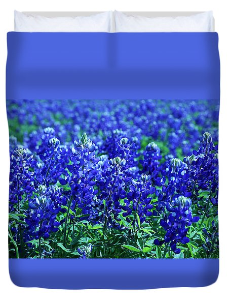 Hill Country Blues Duvet Cover by Judy Vincent