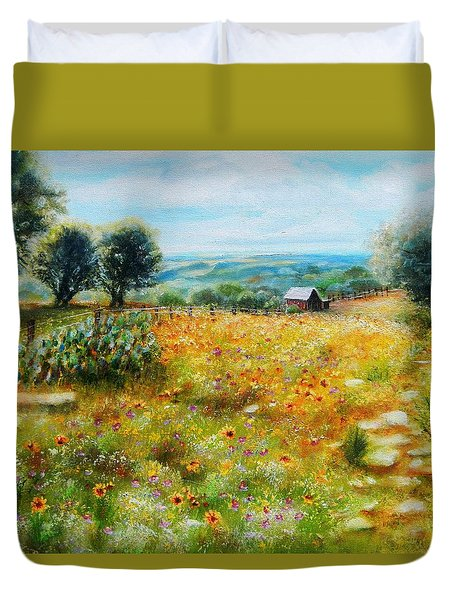 Hill Country Mile Duvet Cover