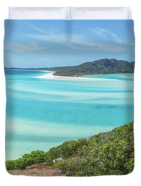Duvet Cover featuring the photograph Hill Inlet Lookout by Az Jackson