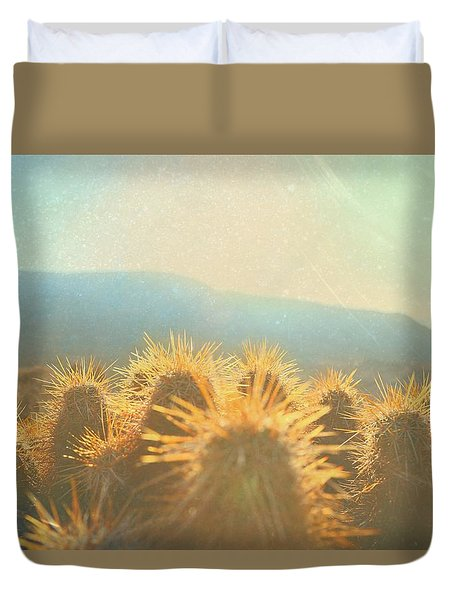 Duvet Cover featuring the photograph Hill Top Sunset  by Mark Ross