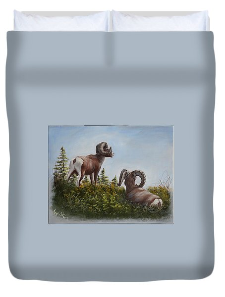 Hill Top View Duvet Cover