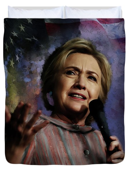 Hillary Clinton 01 Duvet Cover