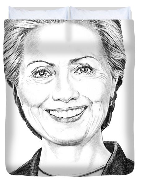 Hillary Clinton Duvet Cover by Murphy Elliott