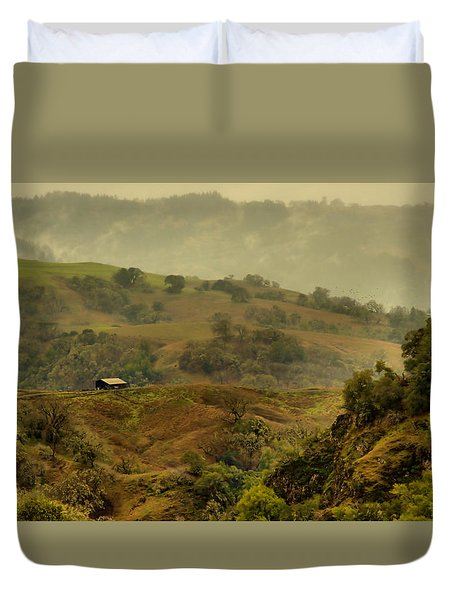 Hills Above Anderson Valley Duvet Cover by Josephine Buschman