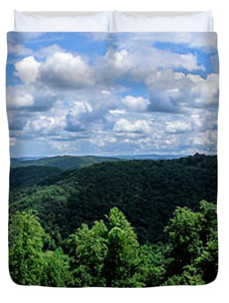 Hills And Clouds Duvet Cover