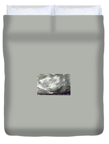 Duvet Cover featuring the painting Hills And Heather  by Scott Wilmot
