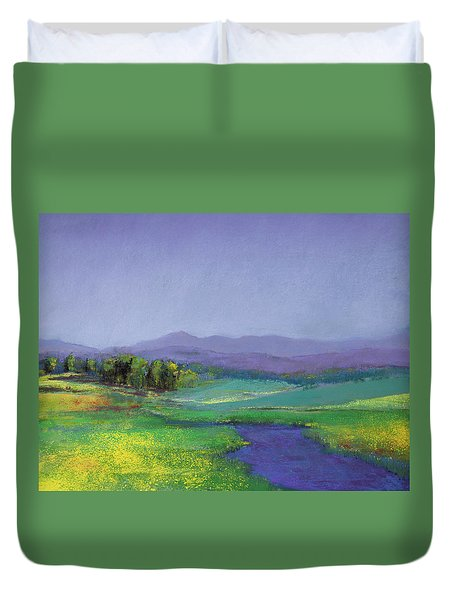 Hills In Bloom Duvet Cover by David Patterson